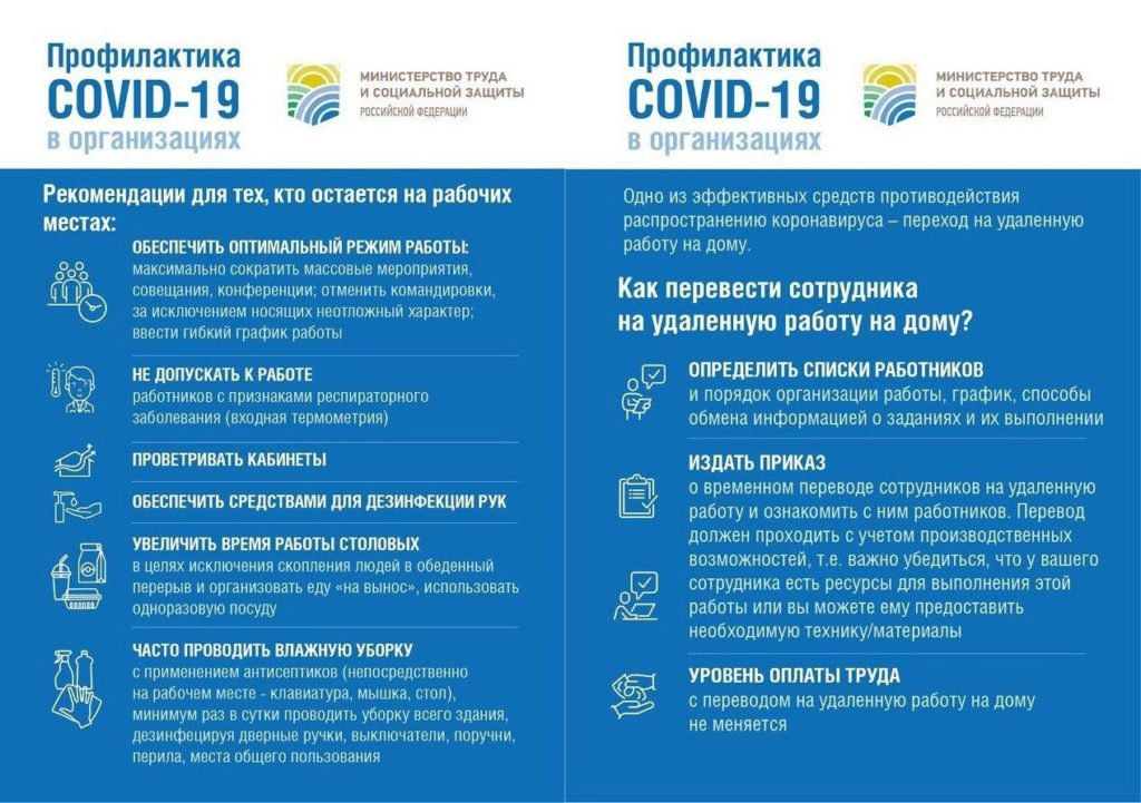 Профилактика COVID-19 в организациях